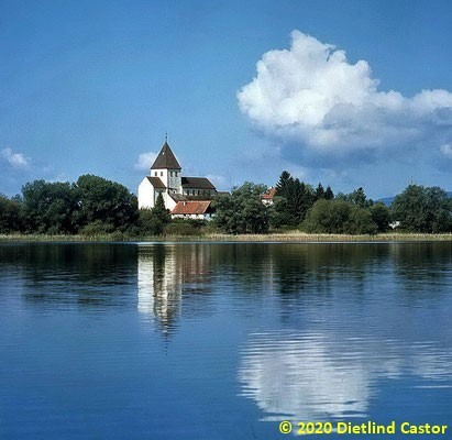 Insel Reichenau Kirchlein Oberzell © 2020 Dietlind Castor