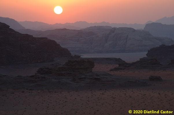 Zarte Farben Sonnenuntergang © 2020 Dietlind Castor