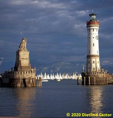 Lindau Hafen, Rundum-Regatte © 2020 Dietlind Castor