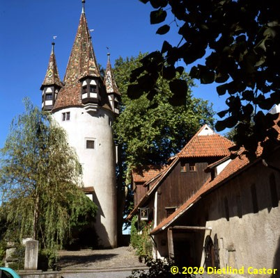 Lindau Diebsturm um 1360 Teil der Stadtmauer © 2020 Dietlind Castor