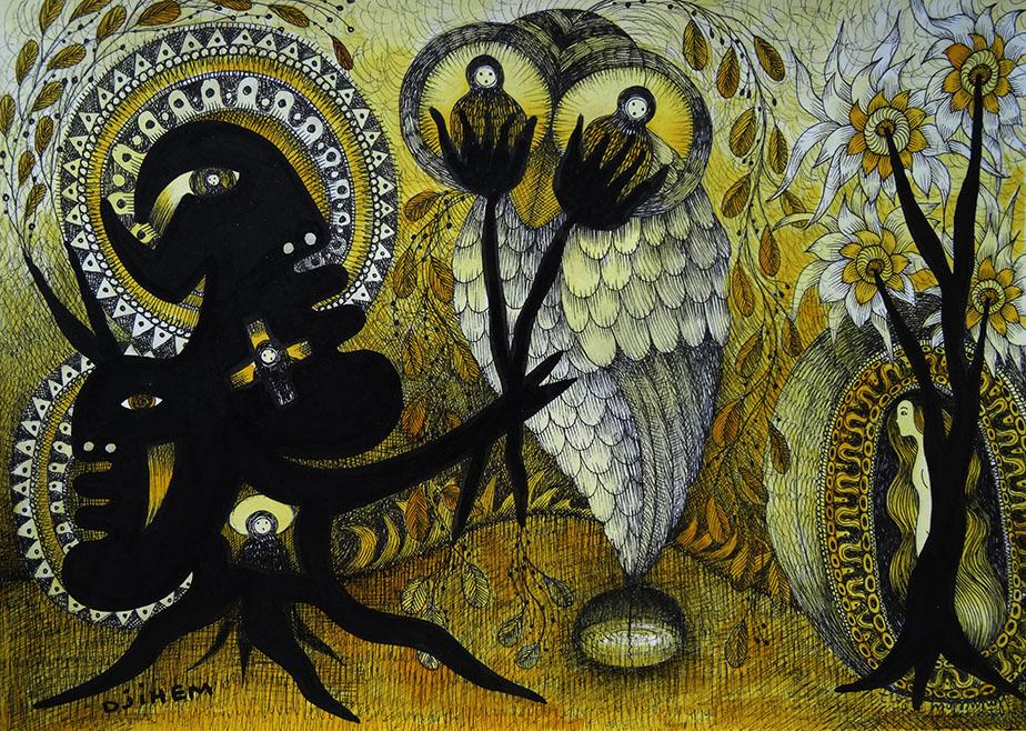 Djihem - Peinture mixte