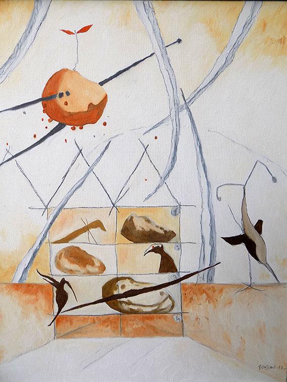 Alain Goujon - Peinture mixte