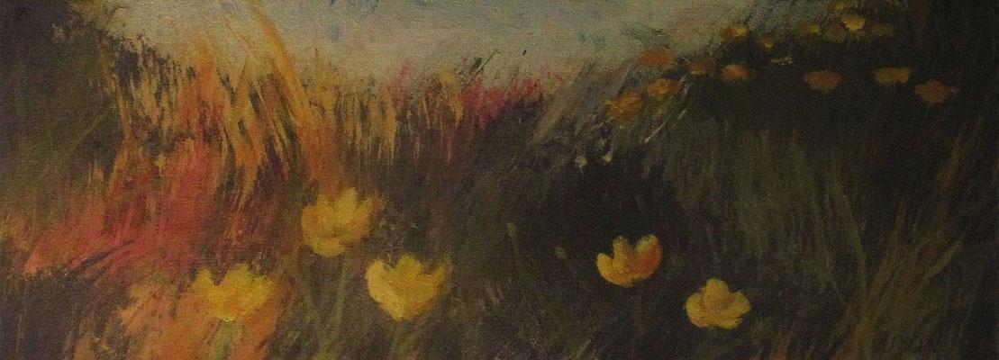 Tulpen, 2019, Acryl auf Leinwand, 23 x 18 cm