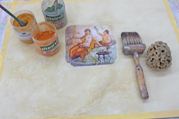 Wischtechniken an Wänden selber machen