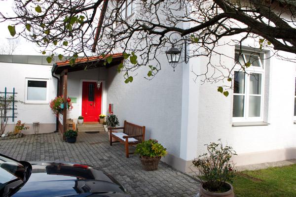 Der Eingang zum Atelier für Wandmalerei