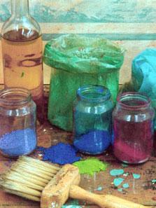 Die Kenntisse über das richtige Malmaterial, die Pinsel und die Farben, sind sehr hilfreich bei der malerischen Umsetzung Ihrer BIlder