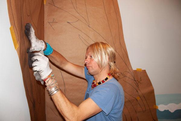 Wandmaler verwirklichen ihre individuelle Raumbemalung