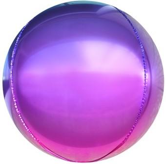 3D сфера диаметр 40 см градиент фуше/фиолетовый воздух 150 р., гелий 310 р.