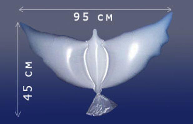 Голуби для украшения и запуска на свадьбах и выпускных воздух 95 р., гелий 215 р.