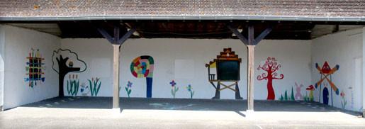 Projet de fresque avec la classe de CM1-CM2 de Pierrefitte-sur-Loire