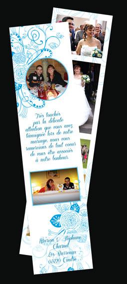 marque-page, remerciement mariage