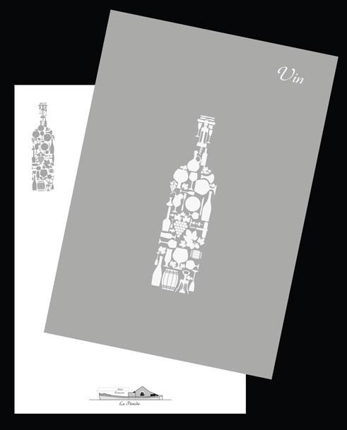 Page de garde carte de vin et sa déclinaison en page intérieure