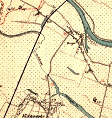 Karte Umgebung Bremen C. Müller 1891