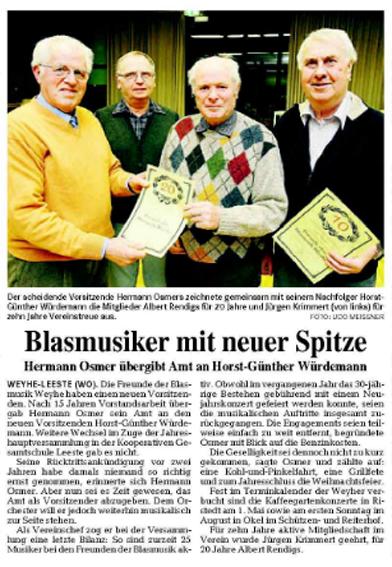 Weser-Kurier 2009