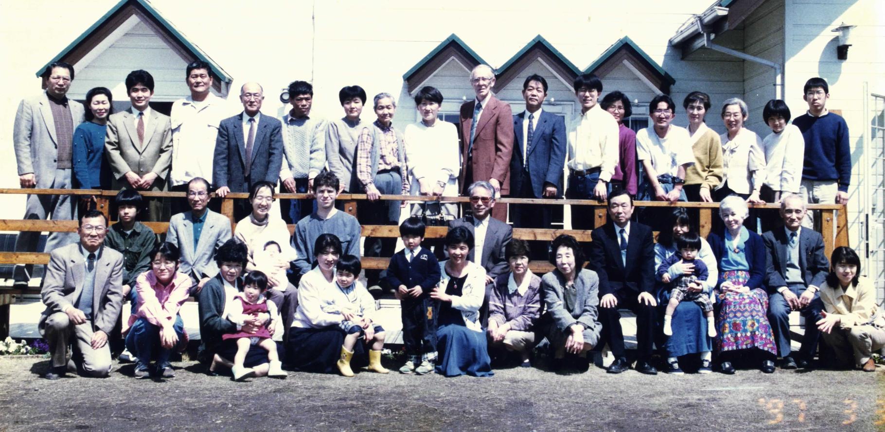 1997年。吉持日輪生・早稚子師夫妻は約20年、牧会されました。