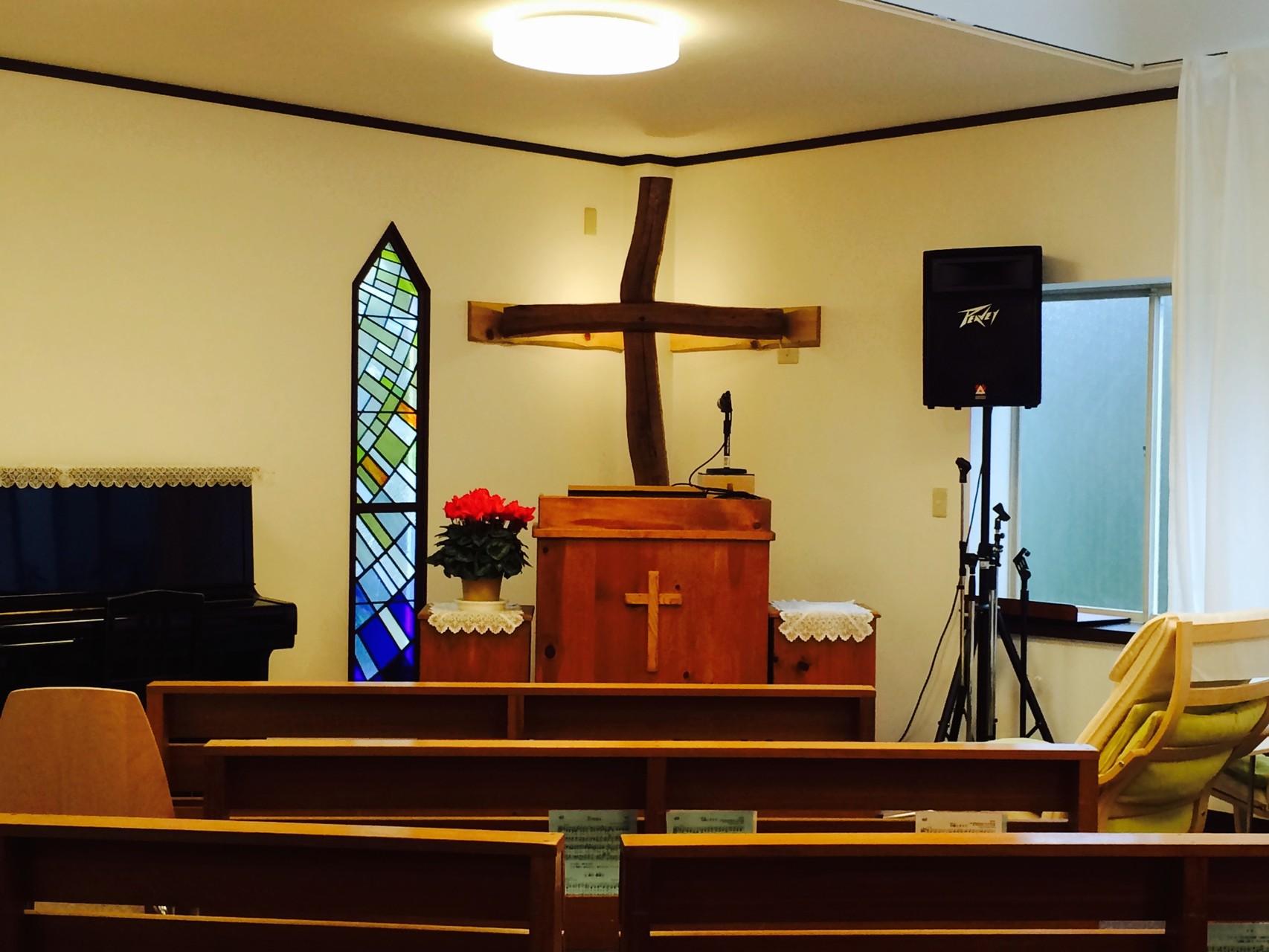 現在の礼拝堂はこのようになっています。