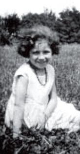 """Marianne E. geborene Wolff als Mädchen, Tochter eines als """"Juden"""" eingestuften Frickenhäusers, Foto: privat, aus: WERNER 1998"""
