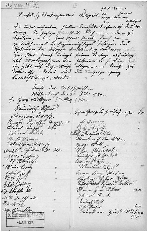 Aus der Personalakte von Wilhelm Paret, Landeskirchliches Archiv Stuttgart, Signatur PA Nr. 1762, mit freundl. Genehmigung, alle Rechte vorbehalten!