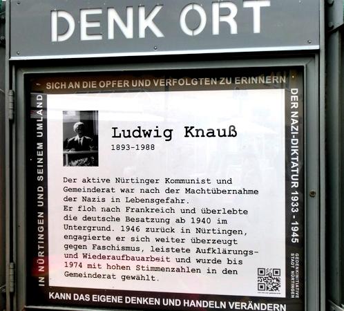 DenkOrt, Nürtingen, Ludwig Knauss, Foto: Anne Schaude