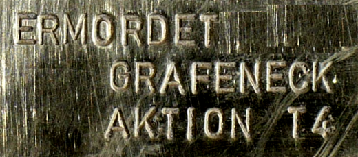 Detail eines Stolpersteins, Foto: User:Enslin, Lizenz:  Creative Commons Attribution-Share Alike 3.0 Unported