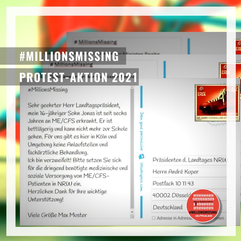 #MillionsMissing Protest-Aktion 2021 | Postkartenaktion an die Präsident:innen der Landesparlamente