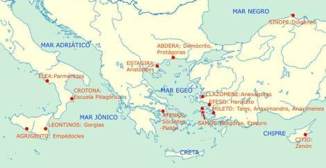 Ciudades y Filósofos Antiguos