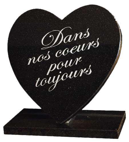 lettres gravées sur plaque funéraire