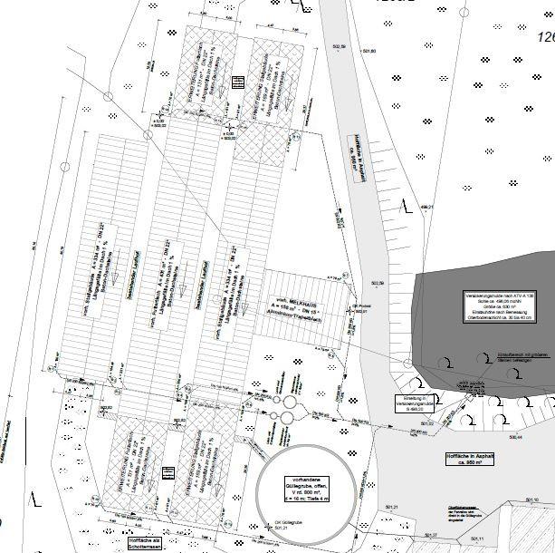 Lageplan eines Landwirtschaftsbetriebes für Rinder    ©Werner Braun