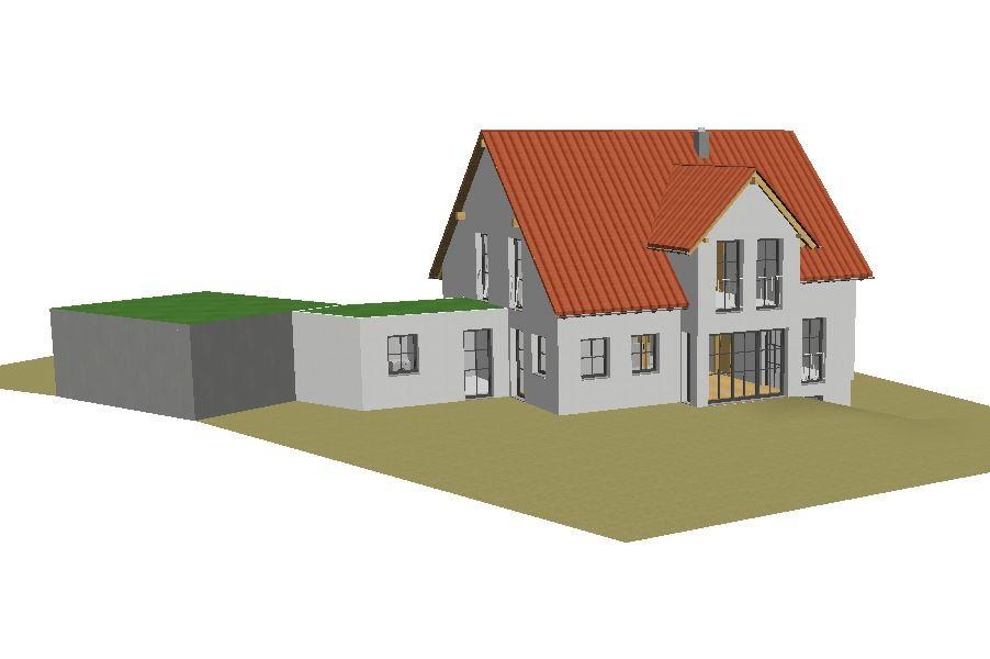 Beispielhaus mit Durchgang zur Garage     ©Werner Braun
