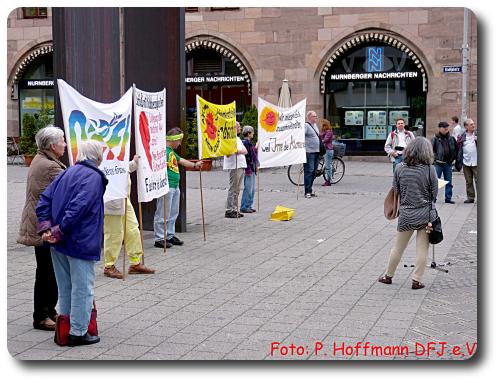 Die Nürnberger Anti-AKW-Mahnwache