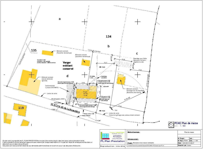 Dossier type de permis de construire r alis par fl plan for Plan de situation pour permis de construire