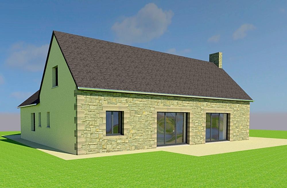 Extension et rénovation à La Bloutière (50)