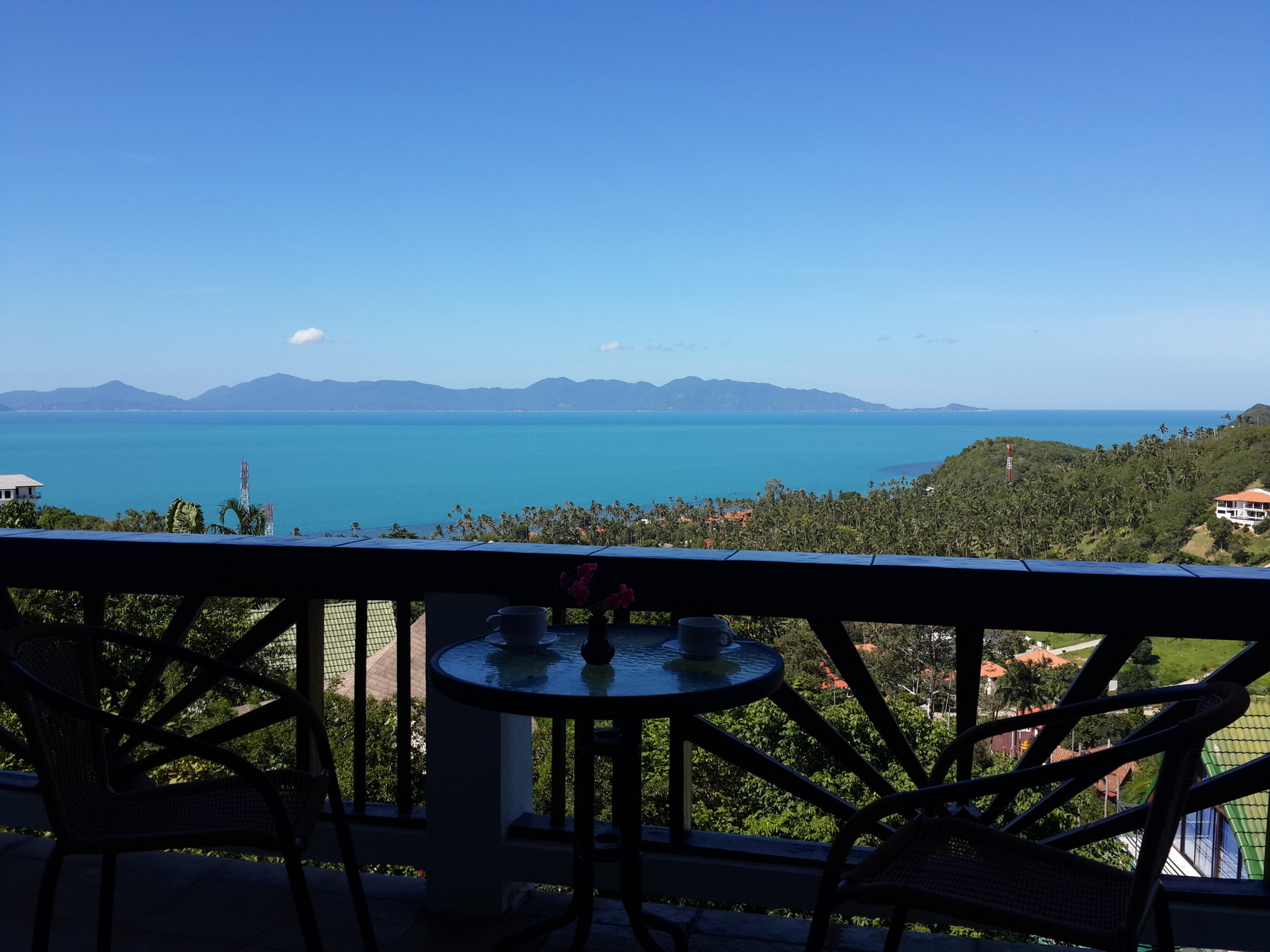 panoramic sea view from the terrace