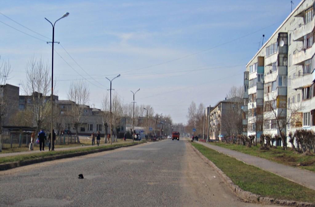 Главная улица городка (Мысль - Пьянкова, ответственный Дейнекин, исполнитель Довбенко и Заборский)