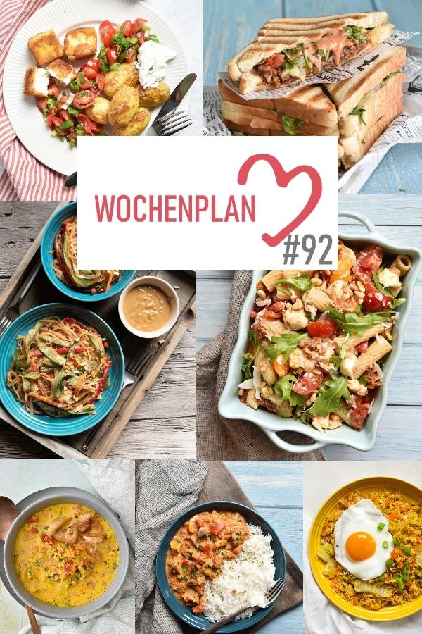 Was soll es die Woche bloß zu essen geben? Ich habe dir hier eine ganze Woche an leckeren Rezepten zusammengestellt - du kannst sie alle vegan oder vegetarisch kochen - der mix dich glücklich Wochenplan für den Thermomix - Nummer 92