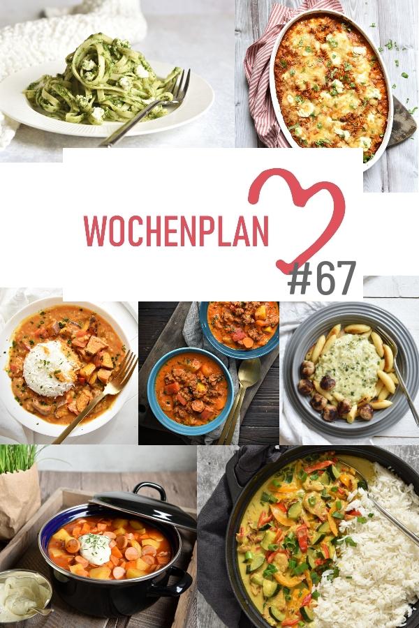 Was soll es die Woche bloß zu essen geben? Leckeres Gemüse, Pasta, Pizza oder lieber ein Curry oder Reisgericht? Hier kommt Wochenplan 67, Thermomix