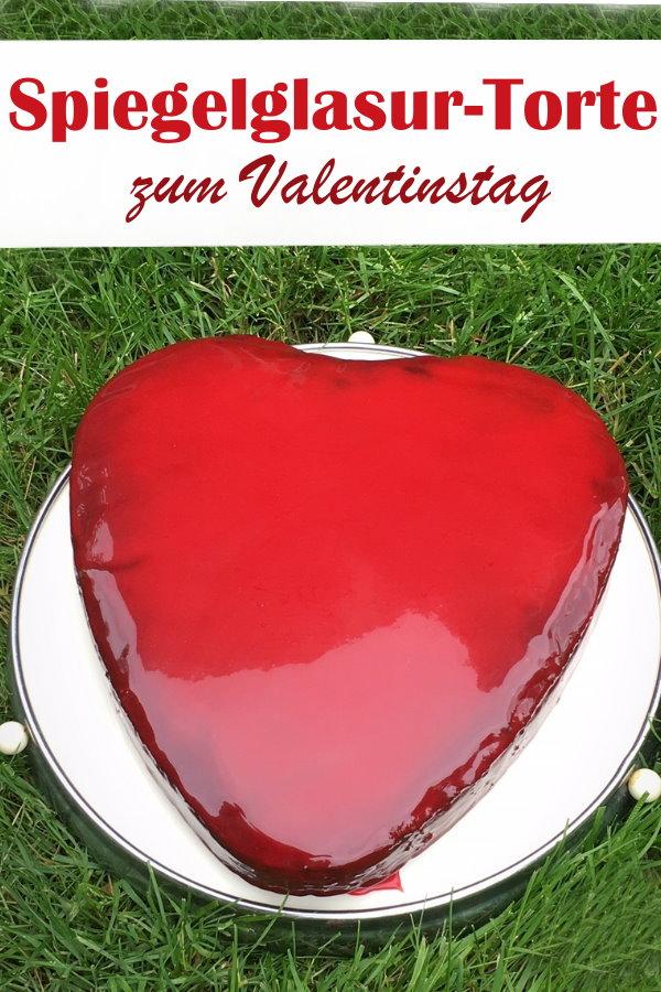 Spiegelglasur Torte für einen besonderen Anlass, wie z.B. in Herzform zum Valentinstag oder auch Geburtstag, Muttertag, Hochzeitstag etc., Mirror Glaze Glasur ist vegan ohne Gelatine und Kondensmilch, Thermomix
