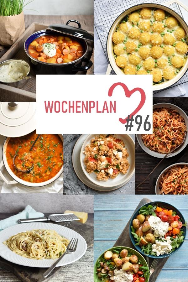 Was soll es die Woche bloß zu essen geben? Ich habe dir hier eine ganze Woche an leckeren Rezepten zusammengestellt - du kannst sie alle vegan oder vegetarisch kochen - der mix dich glücklich Wochenplan für den Thermomix - Nummer 96