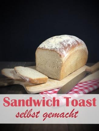 Sandwich Toast selbst gemacht, fluffiges Weißbrot Toastbrot, vegan möglich, Thermomix