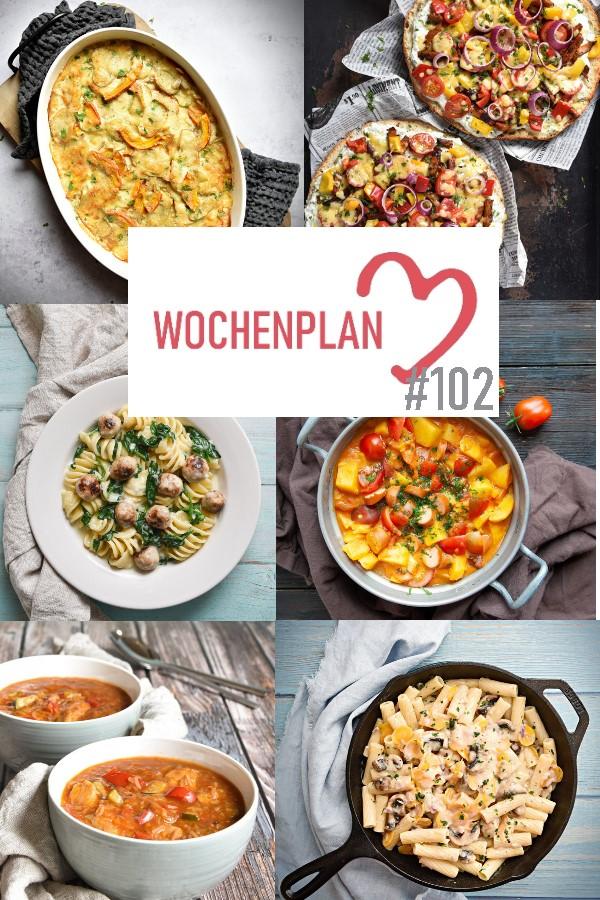 Was soll es die Woche bloß zu essen geben? Ich habe dir hier eine ganze Woche an leckeren Rezepten zusammengestellt - du kannst sie alle vegan oder vegetarisch kochen - der mix dich glücklich Wochenplan für den Thermomix - Nummer 102