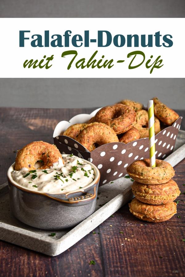Falafel als Mini Donuts, gemacht im Donutmaker, fettarme Variante, ohne frittieren, dazu ein Dip aus Tahin und Quark, vegetarisch, vegan möglich, Thermomix