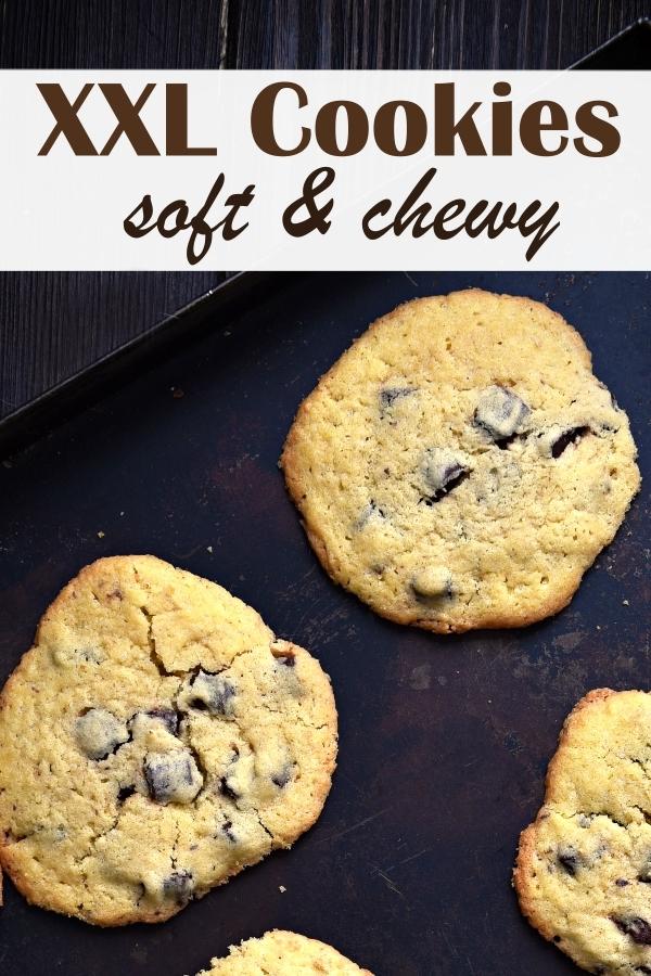 XXL Chocolate Chip Cookies, amerikanische Kekse, große Kekse, die soft und chewy sind, Thermomix Rezept