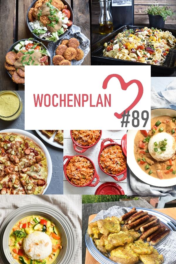 Was soll es die Woche bloß zu essen geben? Ich habe dir hier eine ganze Woche an leckeren Rezepten zusammengestellt - du kannst sie alle vegan oder vegetarisch kochen - der mix dich glücklich Wochenplan für den Thermomix - Nummer 89