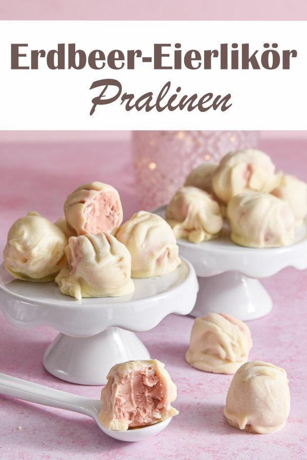 Erdbeer-Eierlikör Pralinen, beste Pralinen, super Geschenkidee zu Weihnachten, zu Ostern oder als Mitbringsel oder Gastgeschenk bei einer Hochzeit, vegan möglich, Thermomix