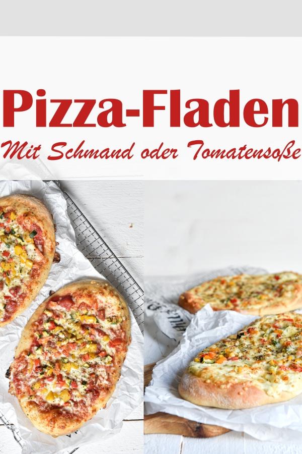 Pizza Fladen mit Schmand bzw Creme Vega oder mit Tomatensoße, fantastischer Teig, diesmal etwas dicker gebacken, vegetarisch, vegan möglich, Teig aus dem Thermomix