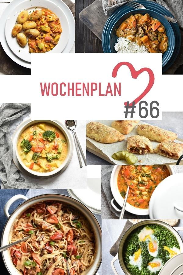 Was soll es die Woche bloß zu essen geben? Leckeres Gemüse, Pasta, Pizza oder lieber ein Curry oder Reisgericht? Hier kommt Wochenplan 66, Thermomix