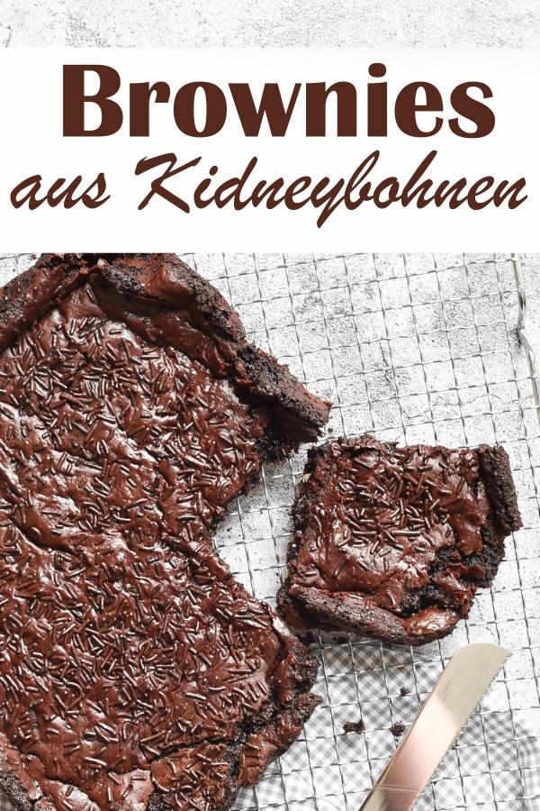 Brownies ohne Mehl, dafür aus Kidneybohnen, Knaller!, schmeckt nicht nach Bohnen, sondern absolut nach Schokolade, vegan möglich, Thermomix, Rezepte aus dem Vorratsschrank