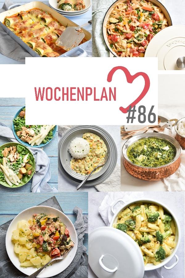 Was soll es die Woche bloß zu essen geben? Ich habe dir hier eine ganze Woche an leckeren Rezepten zusammengestellt - du kannst sie alle vegan oder vegetarisch kochen - der mix dich glücklich Wochenplan für den Thermomix - Nummer 86