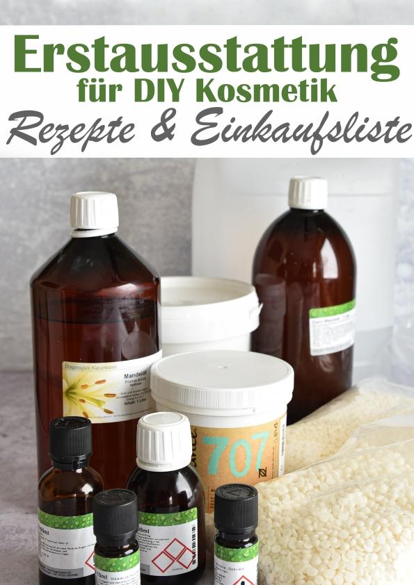 Erstausstattung für DIY Produkte für Non Food Produkte aus dem Thermomix wie z.B. Kosmetik: Creme, Bodylotion, Shampoo etc. Übersicht/Einkaufsliste der benötigten Zutaten plus die Übersicht der jeweiligen Rezepte, vegan
