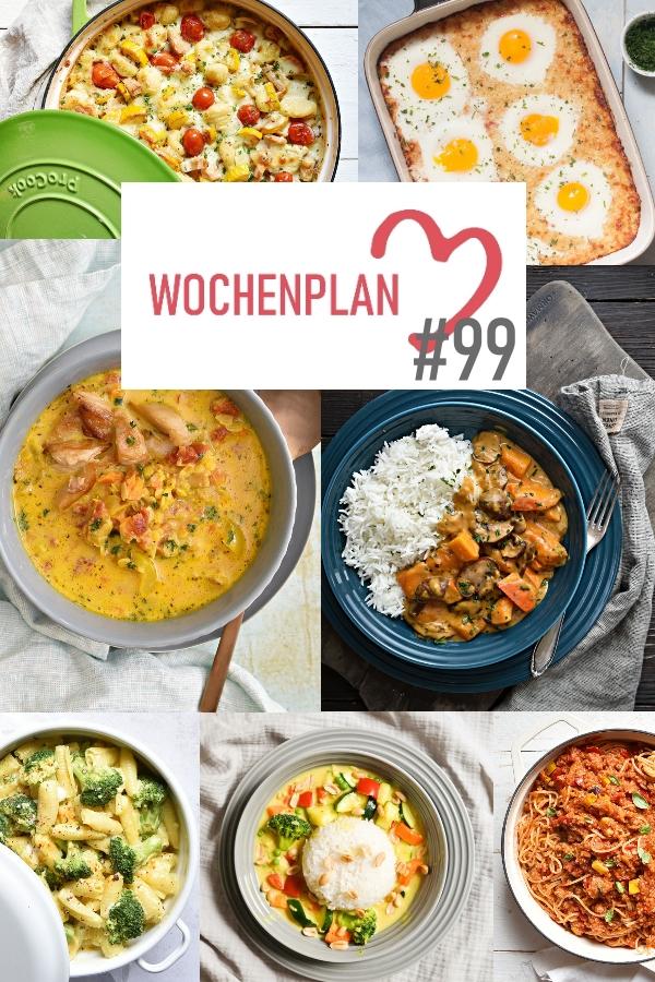Was soll es die Woche bloß zu essen geben? Ich habe dir hier eine ganze Woche an leckeren Rezepten zusammengestellt - du kannst sie alle vegan oder vegetarisch kochen - der mix dich glücklich Wochenplan für den Thermomix - Nummer 99